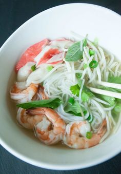 My comfort food is steaming bowl of Vietnamese Seafood Pho. The hot broth, with the delicate rice noodles, fresh seafood and fragrant herbs reminds makes my house smell like moms! I love Vietnamese Seafood Pho because it's so filling and light. Most ingredients can be found in the International Isle at your grocery store, but...Read More »