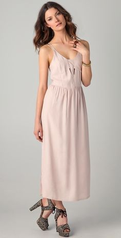 Nude cream -- Something Else Tangle Back Dress