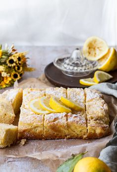 Lemon Cake with a tangy cream cheese layer and a sweet, buttery crumb topping. This moist lemon cake truly shows the simple pleasures of life. Easy Desserts, Dessert Recipes, Cake Recipes, Blueberry French Toast Casserole, Lemon Tea Cake, Small Baking Dish, Light Cakes, Cake With Cream Cheese, Cake Servings