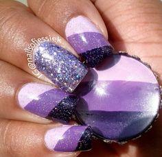 Purple & more purple! Beautiful Nail Designs, Cute Nail Designs, Beautiful Nail Art, Hot Nails, Hair And Nails, French Acrylic Nails, Lavender Nails, Sassy Nails, Nail Polish Designs
