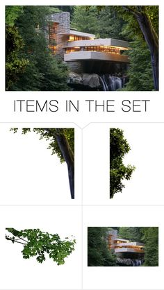 """""""While She Was Up North, Ari Wanted to See Frank Lloyd Wright's Fallingwater Near Pittsburg…Next Weekend Was  Leticia's Wedding, After That She'd Be Helping With Maria's Wedding & the Longhouse…In May She'd be Moving…This Was the Weekend"""" by maggie-johnston ❤ liked on Polyvore featuring art"""