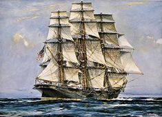 June 19, 1852: The now famous American clipper ship Sovereign of the Seas is launched from Donal McKay shipyard, Boston.