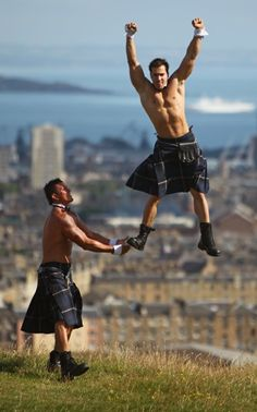 Is it getting hot in here, or is it just me?! #Kilts #Irish #StPattysDay