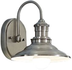 1-Light Single Antique Pewter Cone Vanity Bathroom Wall Mount Light Fixture #AllenRoth #Traditional