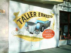 """Tachito"" mural realizado en la persiana del taller de Alberdi y Pergamino Canning, Jalousies, Pergamino, Atelier, Hipster Stuff, Home Canning, Conservation"