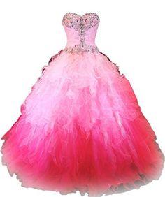 Dreamprom Sweetheart Ruffles Ombre Ball Gown Prom Dresses Quinceanera Dress, http://www.amazon.com/dp/B00ULNPHMW/ref=cm_sw_r_pi_awdm_SpCbvb1Y3PWGW