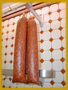 Rohwurst is the German word for a type of smoked or fermented sausage in which raw ingredients are used for the filling.
