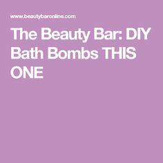 The Beauty Bar: DIY Bath Bombs THIS ONE