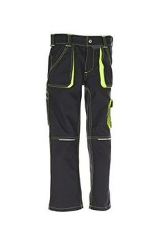 6110 Planam Junior Bundhose anthrazit/gelb (122/128) -