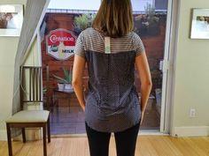 Market & Spruce Austin Polka Dot & Striped Mixed Material Shirt stitch fix Love the mixed prints