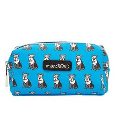 Look at this #zulilyfind! Blue Schnauzer Small Cosmetic Case #zulilyfinds