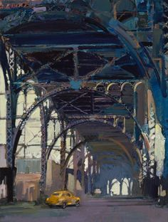 Francis Livingston > Painting underneath raised highway