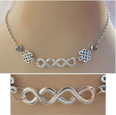 Silver Celtic Knot Necklace Jewelry Handmade NEW Accessories Fashion Pendant #handmade http://www.ebay.com/itm/152007631019?ssPageName=STRK:MESELX:IT&_trksid=p3984.m1555.l2649