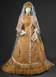 Wedding dress ca. 1877 From theMuseum Nacional do... - Fripperies and Fobs
