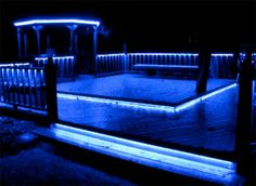 rope lighting for the deck   must get