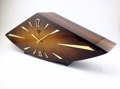 Vesna Spring Unique Soviet Wooden Desk Art Deco by BestVintage4You