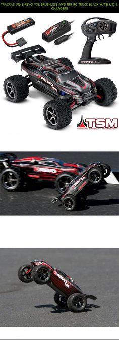 Traxxas 1//10 E-Revo VXL 2.0 Wing /& Mount w// Decals Black Spoiler Stay 86086-4