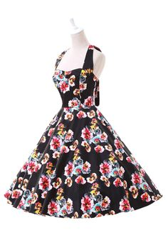 Dream of idea wonderland! ONLY $28.99-Give yourself a little inspiration with the Vintage Floral Swing Dress. Get it immediately at OASAP.COM !