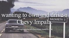 YES!!! but I would love a blue Impala ^_^ BUT black too lol <3 #Impala #Supernatural