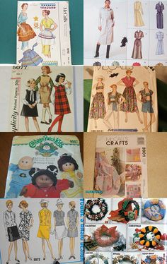 Vintage Sewing Pattern Collection - love those kitschy Aprons! all for sale on etsy, click thru to purchase
