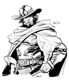 Jesse McCree a Cowboy.