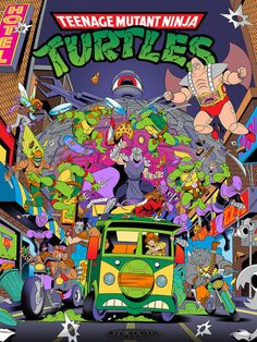 Teenage Mutant Ninja Turtles Art by Alex Arizmendi Ninja Turtles Art, Teenage Mutant Ninja Turtles, Ninja Turtles Cartoon, Teenage Turtles, Ninja Turtle Toys, Cinema Art, Arte Nerd, Cartoon Tattoos, Cartoon Tv
