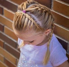 Hair Styles For School I like the way tiara braid ends hair is just pulled back . Hair Styles For School I like the way tiara braid ends hair is just pulled back and tied Little Girls Ponytail Hairstyles, Little Girl Ponytails, Braided Hairstyles For School, Baby Girl Hairstyles, Princess Hairstyles, Diy Hairstyles, Halloween Hairstyles, Hairstyle Short, Natural Hairstyles