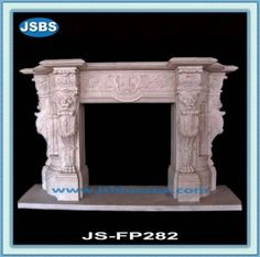 Stone Carved marble fireplace mantel Marble Fireplace Mantel, Marble Fireplaces, Fireplace Surrounds, Fireplace Mantels, Marble Carving, Wooden Crates, Animal Sculptures, Flower Pots, Fountain