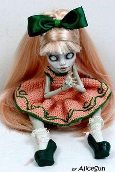 OOAK Custom Monster High Rochelle Goyle art doll  bjd repaint Angel - AliceSun #Mattel #DollswithClothingAccessories