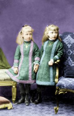 Princess Marie Louise (left) and Princess Helena Victoria of Schleswig-Holstein, the only daughters of Princess Helena and Prince Christian.