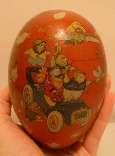 turn of the century 1900 tin egg