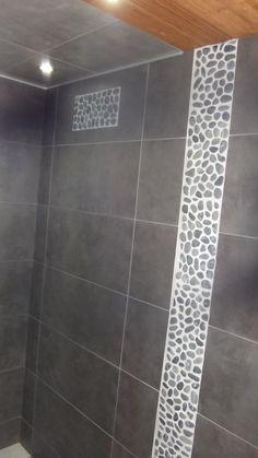 carrelage intérieur en grès cérame émaillé loggia, gris galet n ... - Carrelage Galets Salle De Bain
