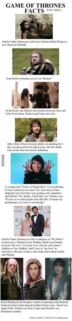 Game of Thrones Facts-Part 3