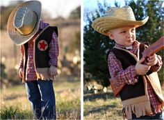 Felt cowboy vest tutorial - might have to make two of these!