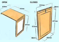 HOME DZINE Home DIY | Make a flip-up | flip-down table