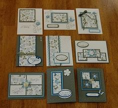 one sheet wonders - 9 cards from 1 8x8 piece i love these one sheet wonders such a challenge