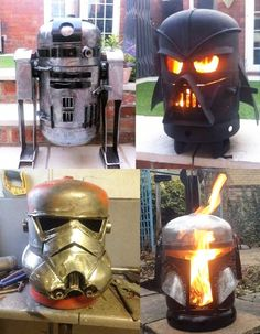 Awesome Star Wars themed wood burners by Burned by Design Metal Fire Pit, Diy Fire Pit, Fire Pits, Metal Welding, Welding Art, Welding Design, Welding Tips, Welding Ideas, Metal Projects