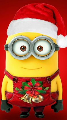 This is a picture of a holiday themed minion from the Disney Movies: Despicable Me 1 & I got it from the app: Zedge. Where you can get free wallpapers an ringtones. I definitely recommend it. Thanks:-) Bye:-) Amor Minions, Cute Minions, Minions Despicable Me, Minions Quotes, Minions 2014, Evil Minions, Funny Minion, Minion Noel, My Minion