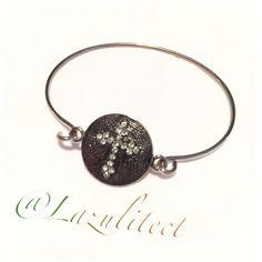 Just in.Beautiful petite crystal bracelet Just In...Gold tone cross bracelet hooks on side cross!  Very pretty✨✨NEW crystal accents on cross Jewelry Bracelets