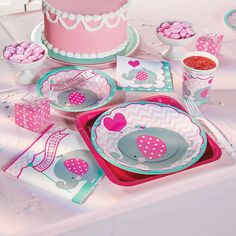 1st Birthday Pink Elephant Basic Party Pack - OrientalTrading.com