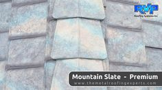The newest colour to choose from, and has quickly become the most popular.  Mountain Slate lives up to its name, capturing all the subtle shades and tones of natural slate.  Visit us at www.rvp-roofing.com for more ideas.  Don't forget to pin!  #rvp #highstrengthsteel #permanentroof #armadura #mountainslate Roofing Systems, Metal Roof, Slate, Don't Forget, Mountain, Homes, Colour, Popular, Steel