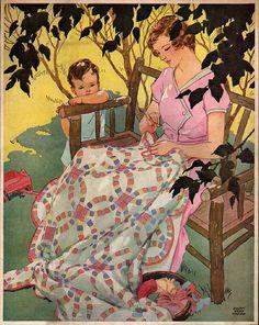 Woman's World magazine    Cover illustration, July 1932