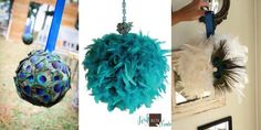 Peacock Feather flower ball
