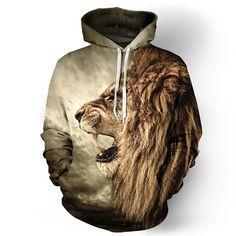 Alisister novo tigre moda camisola jaqueta dos homens jaqueta com capuz casaco de mulheres estilo harajuku 3d animal engraçado leão camisas sudadera