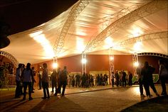 Entrada do auditório Elis Regina, no Anhembi, SP.