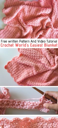Quick Crochet Blanket, Crochet For Beginners Blanket, Knitting For Beginners, Easy Crochet Baby Blankets, Crochet Blanket Tutorial, Crochet Stitches For Blankets, Crochet Stitches Free, Handmade Baby Blankets, Crochet Cable