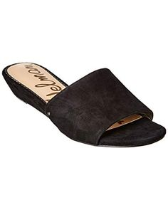 020d4a11ab Sam Edelman Women's Liliana Slide Sandal Black Suede 9 M US... Demi wedge