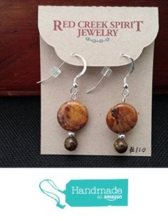 Red Creek Jasper Earrings from Red Creek Spirit Jewelry http://www.amazon.com/dp/B016B29BT6/ref=hnd_sw_r_pi_dp_ZxBgwb0PJPDX2 #handmadeatamazon