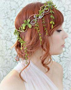 Crown of leaves, medieval tiara, headdress, piece of vine head, hair accessory Wedding Headband, Bridal Hair, Fairy Crown, Leaf Crown, Circlet, Tiaras And Crowns, Hair Jewelry, Headdress, Costumes