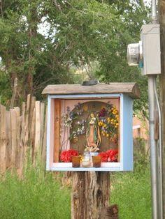 A small personal shrine, Cerillos NM